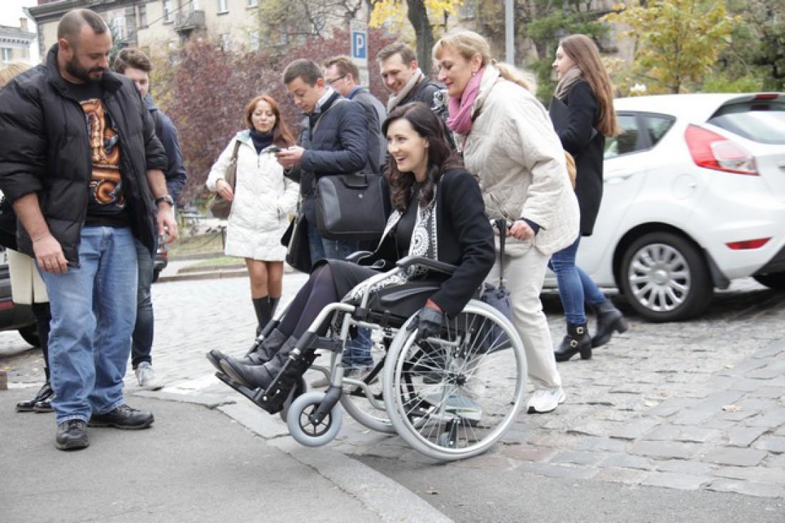 Соломия приняла участие в проекте Один день в коляске