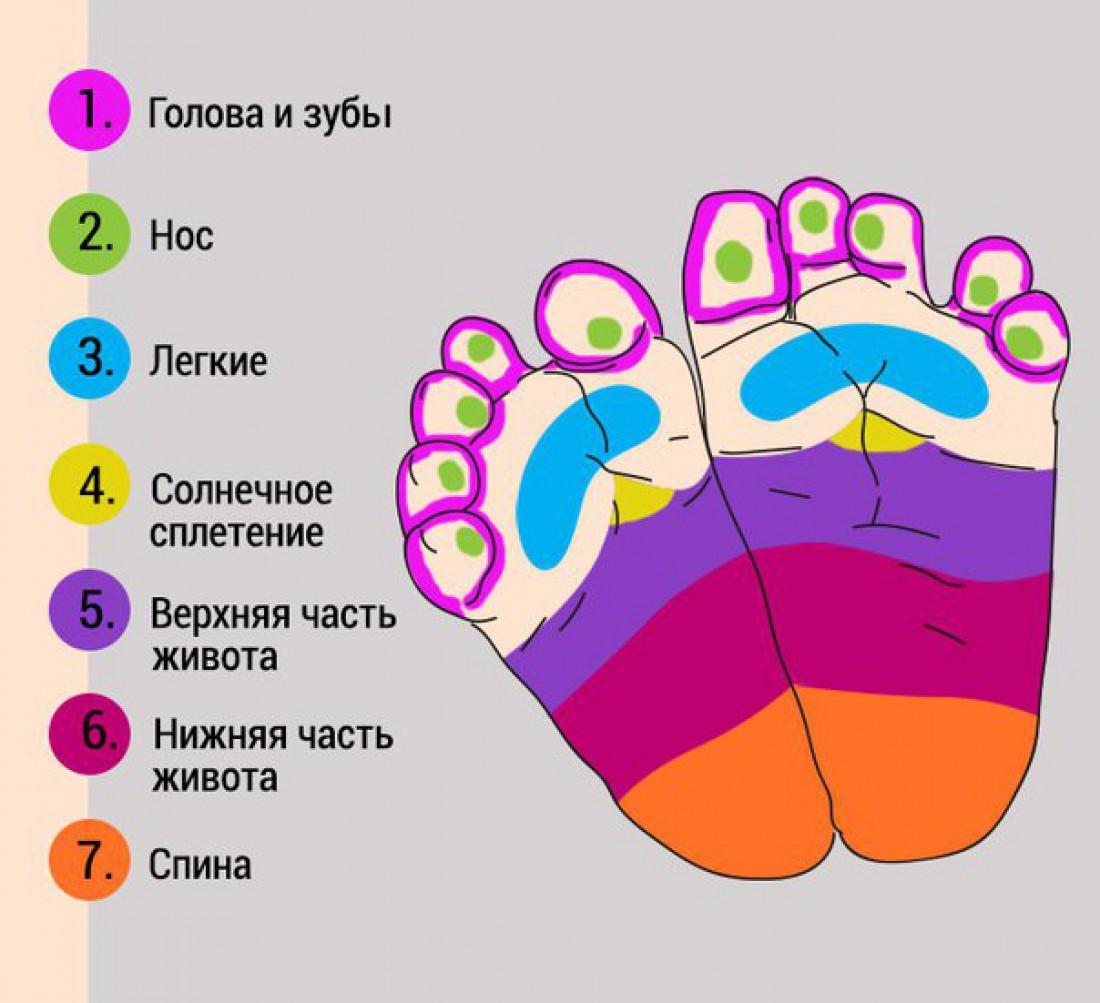 Схема массажа стоп ног фото 415
