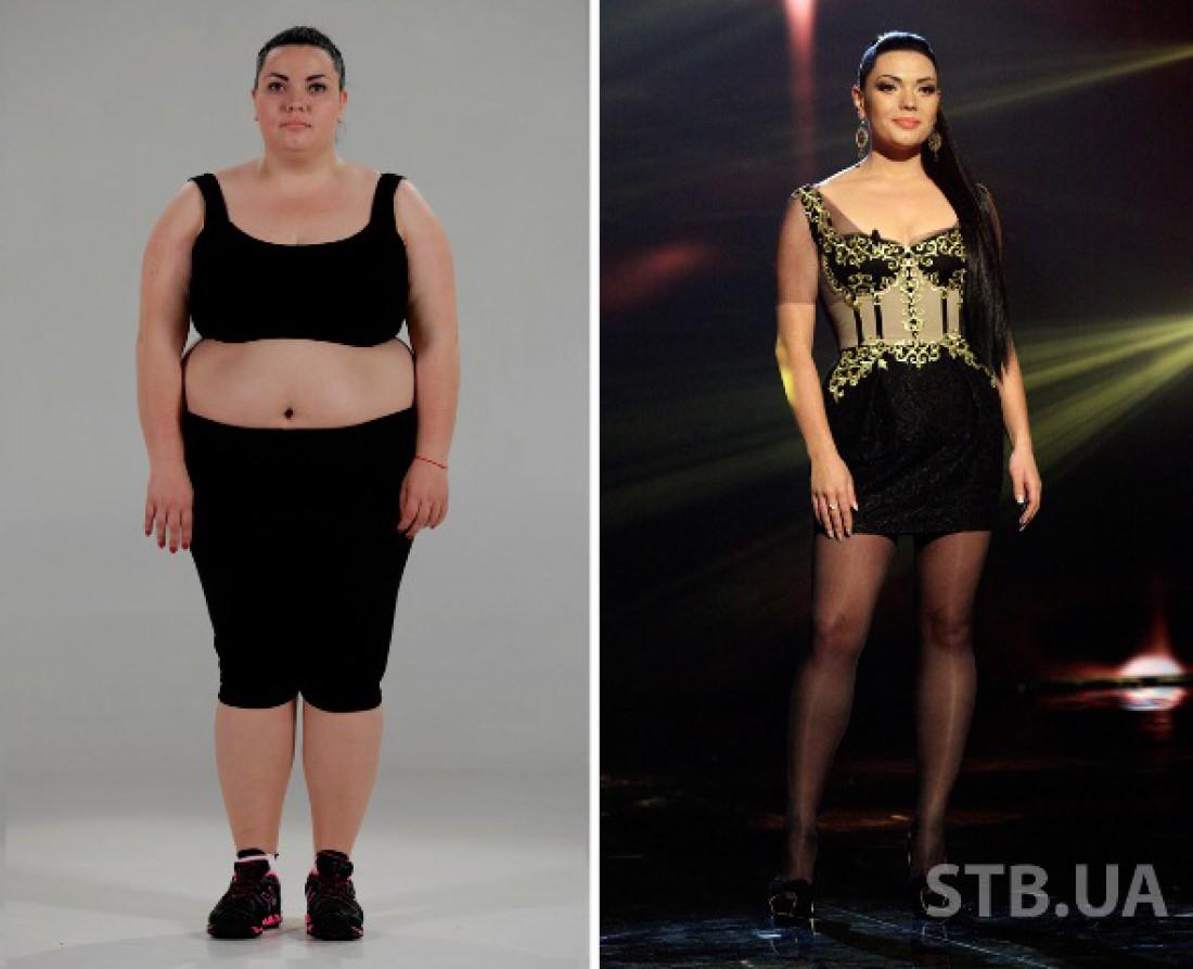 Юлия Фомина до и после похудения