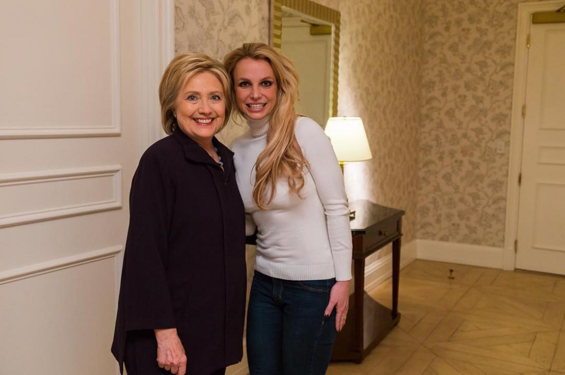 Бритни Спирс с Хиллари Клинтон