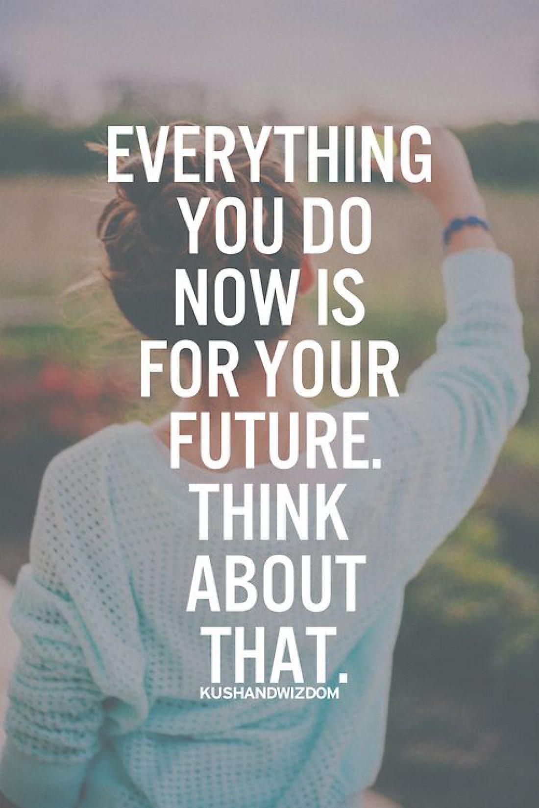 Все, чтоб ты делаешь сейчас, это вклад в твое будущее