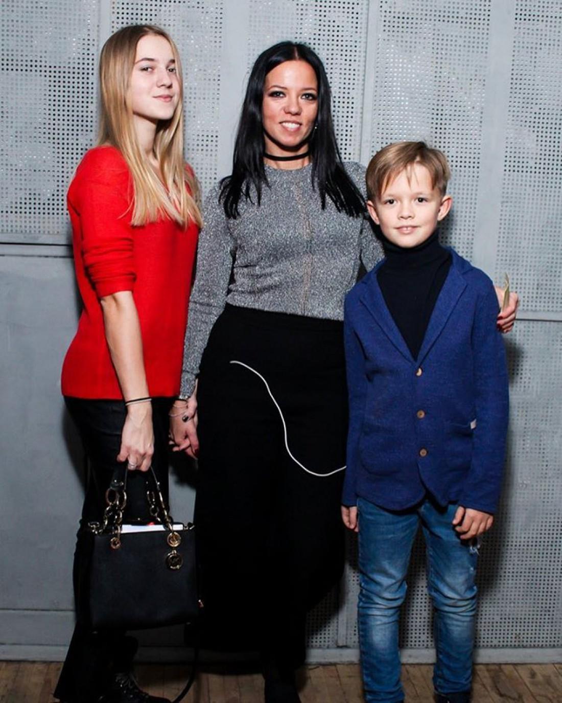 Ирина Горовая со своими детьми – дочкой Наташей и сыном Андреем