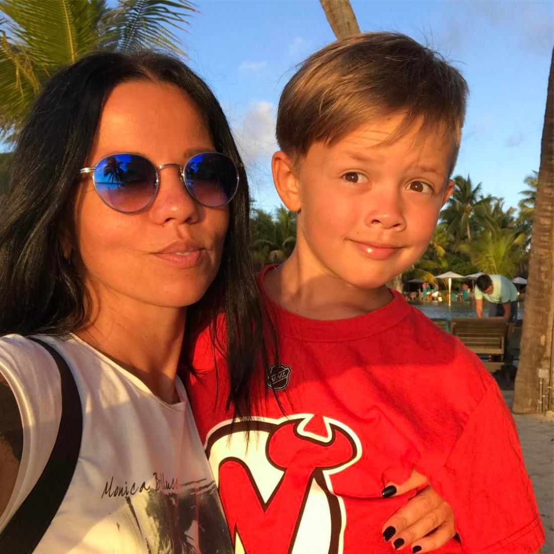 Ирина Горовая с сыном Андреем