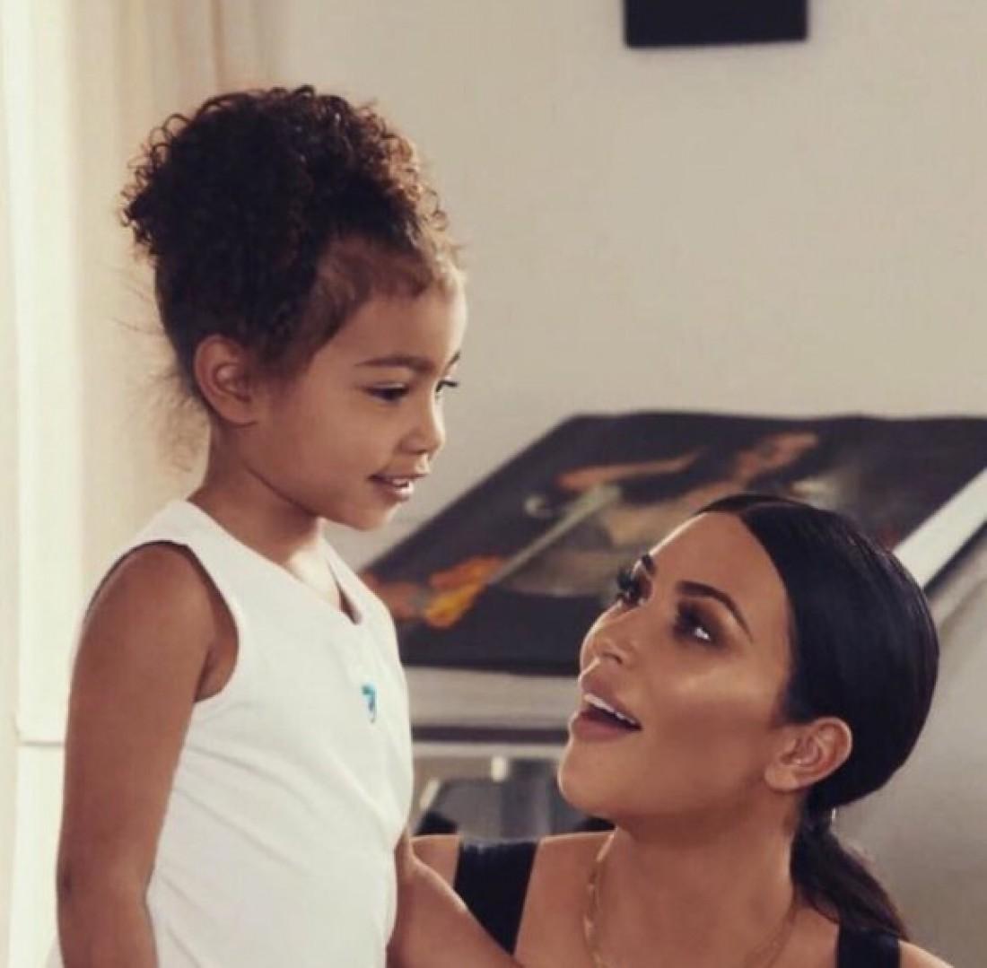 Ким Кардашян с дочкой
