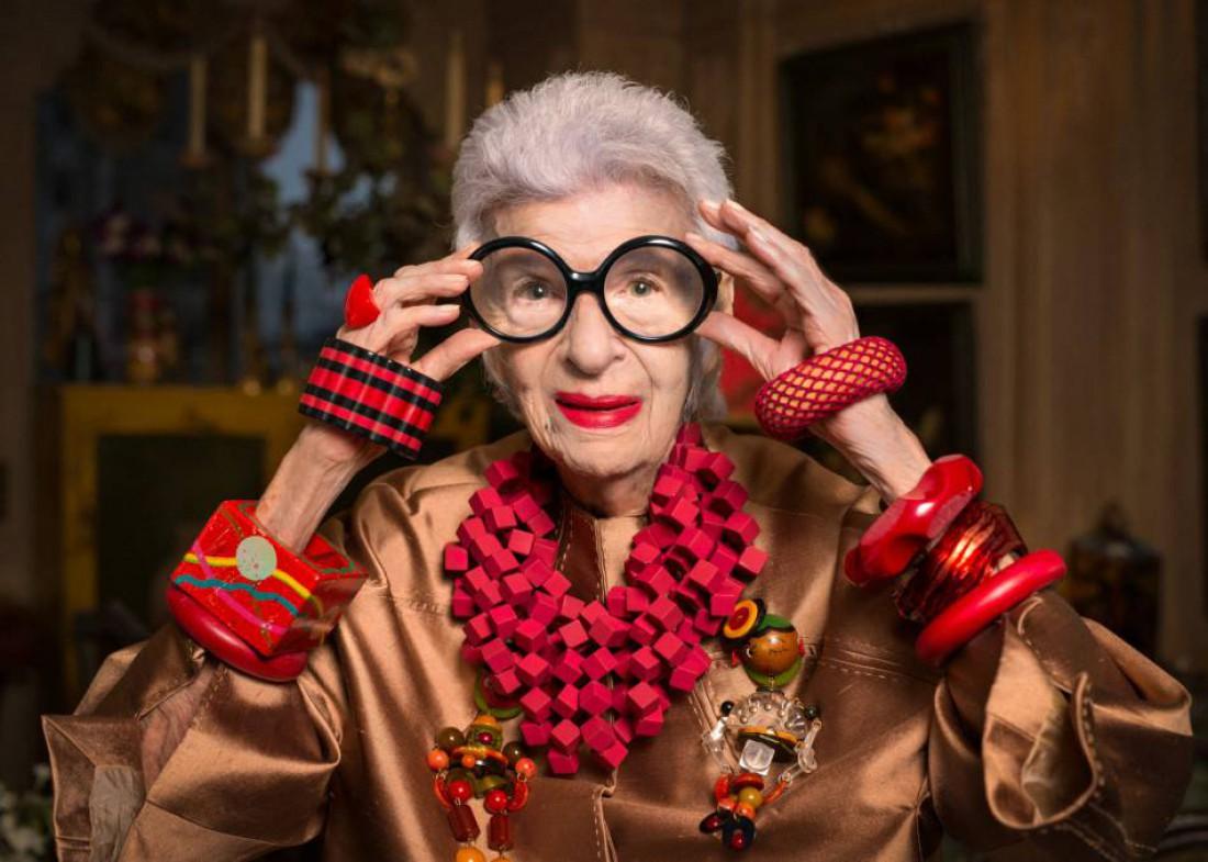 Айрис Апфель отмечает 95-летие
