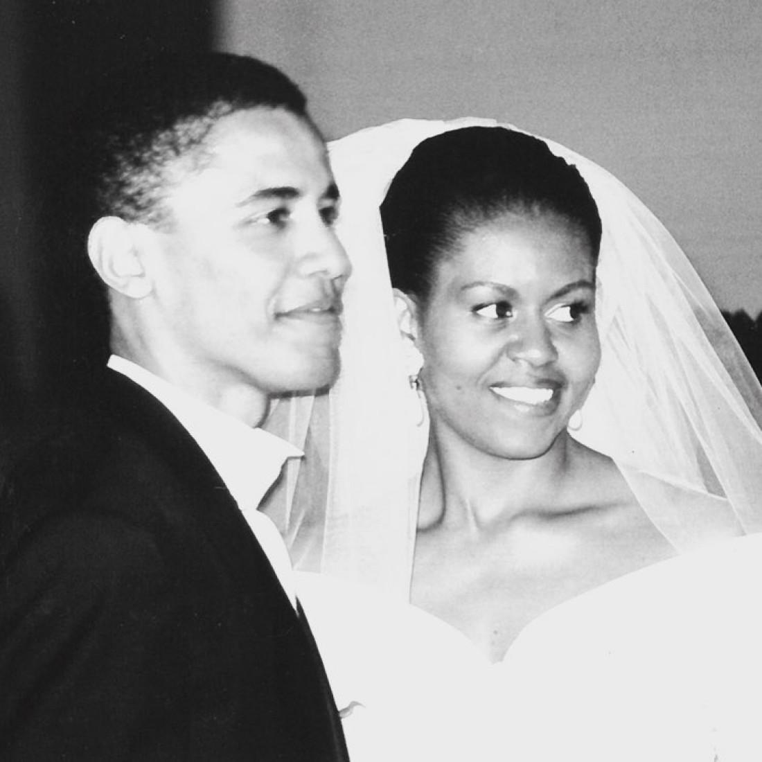 Свадебная фотография Мишель и Барака