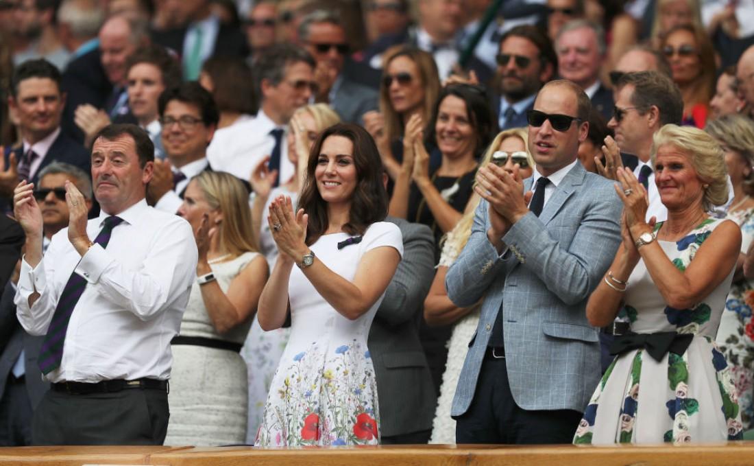 Кейт Миддлтон и принц Уильям на Уимблдоне