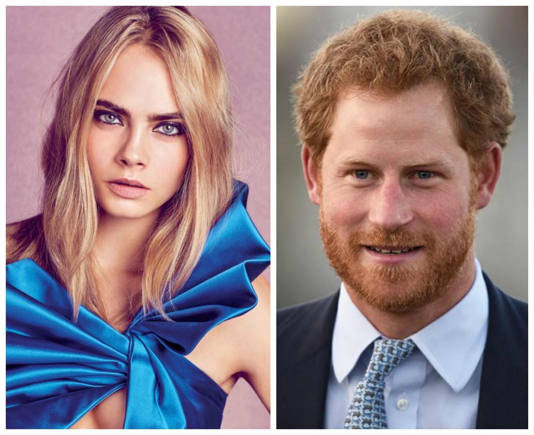 Принц Гарри и Кара Делевинь