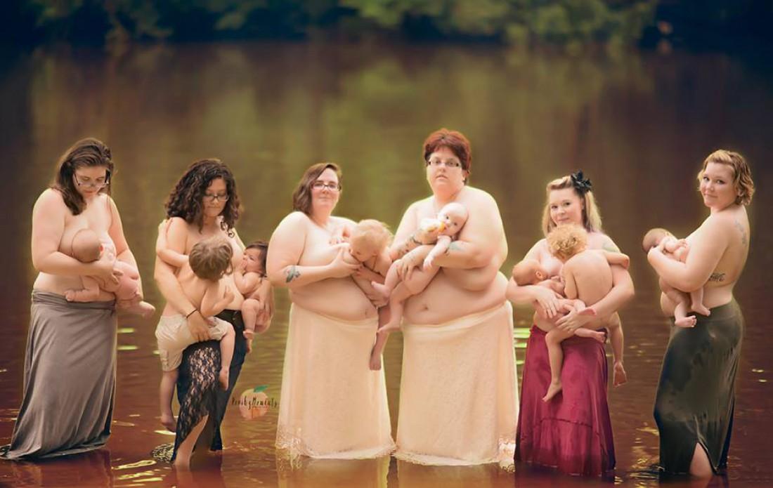 Женщины снялись в проекте, посвященном грудному вскармливанию