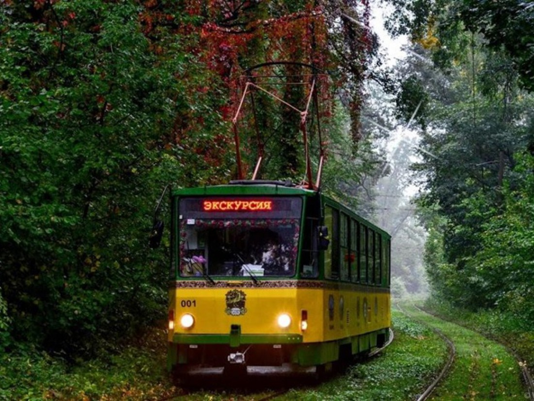 Трамвайчик-кафе в Пущу Водицу