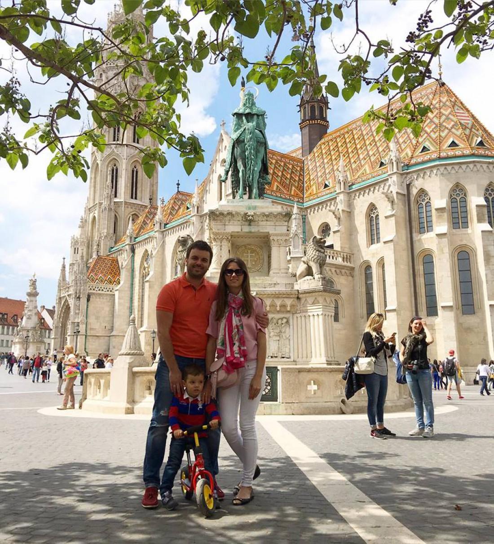 Григорий Решетник с женой и сыном Ваней