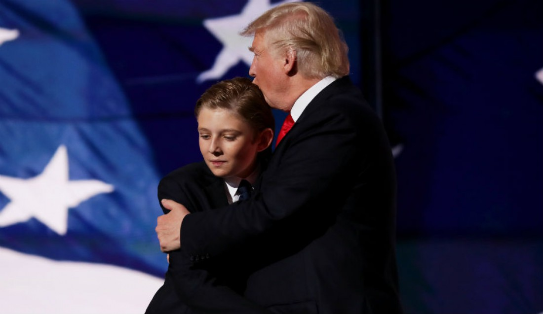 Дональд Трамп с сыном Бэрроном