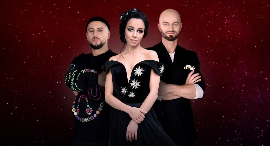 Члены жюри проекта Танці з зірками: MONATIK, Екатерина Кухар, Влад Яма