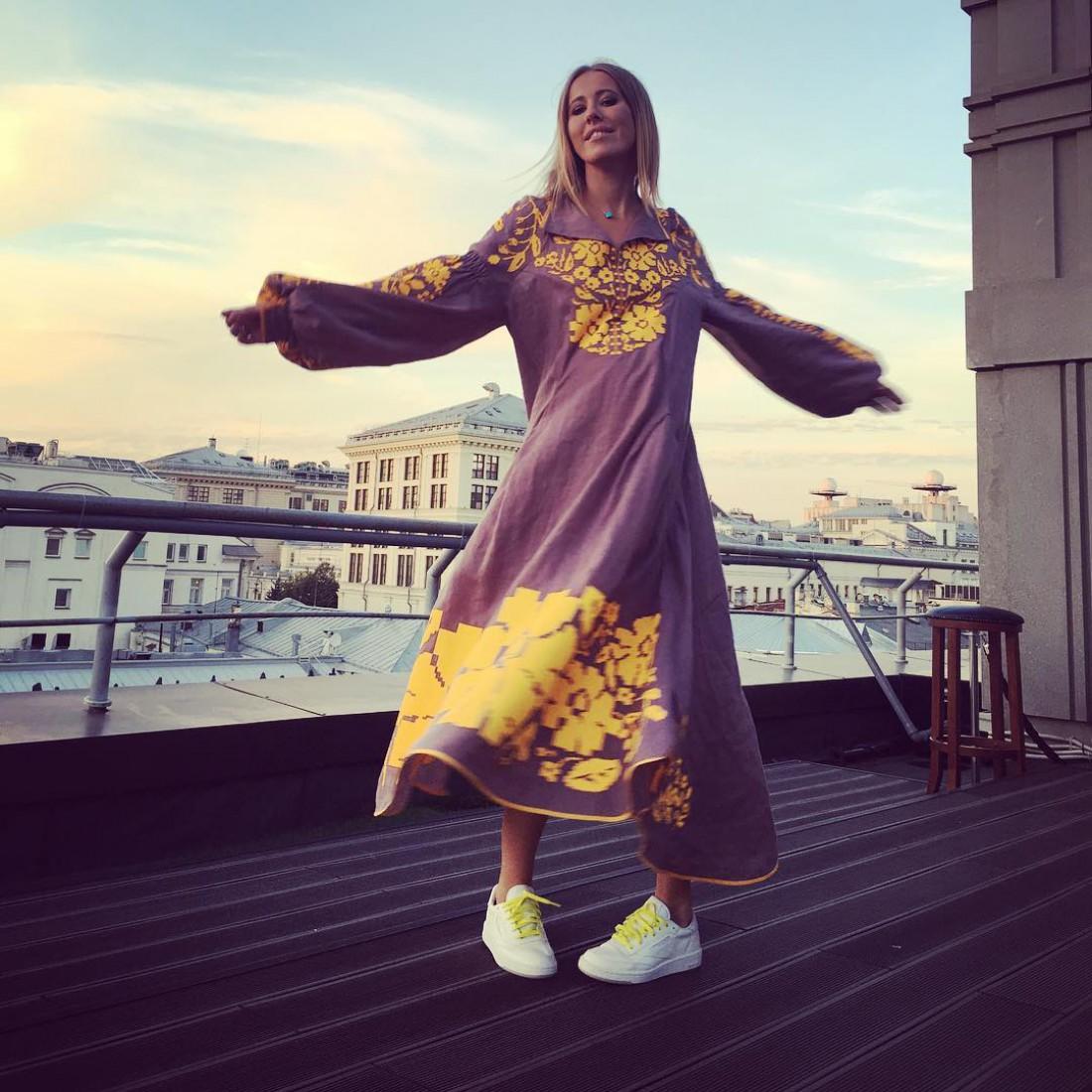 Ксения Собчак в наряде от украинского дизайнера
