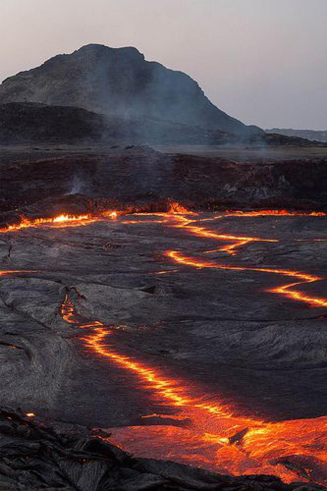 Вулкан Эрта Але - самый активный вулкан Эфиопии