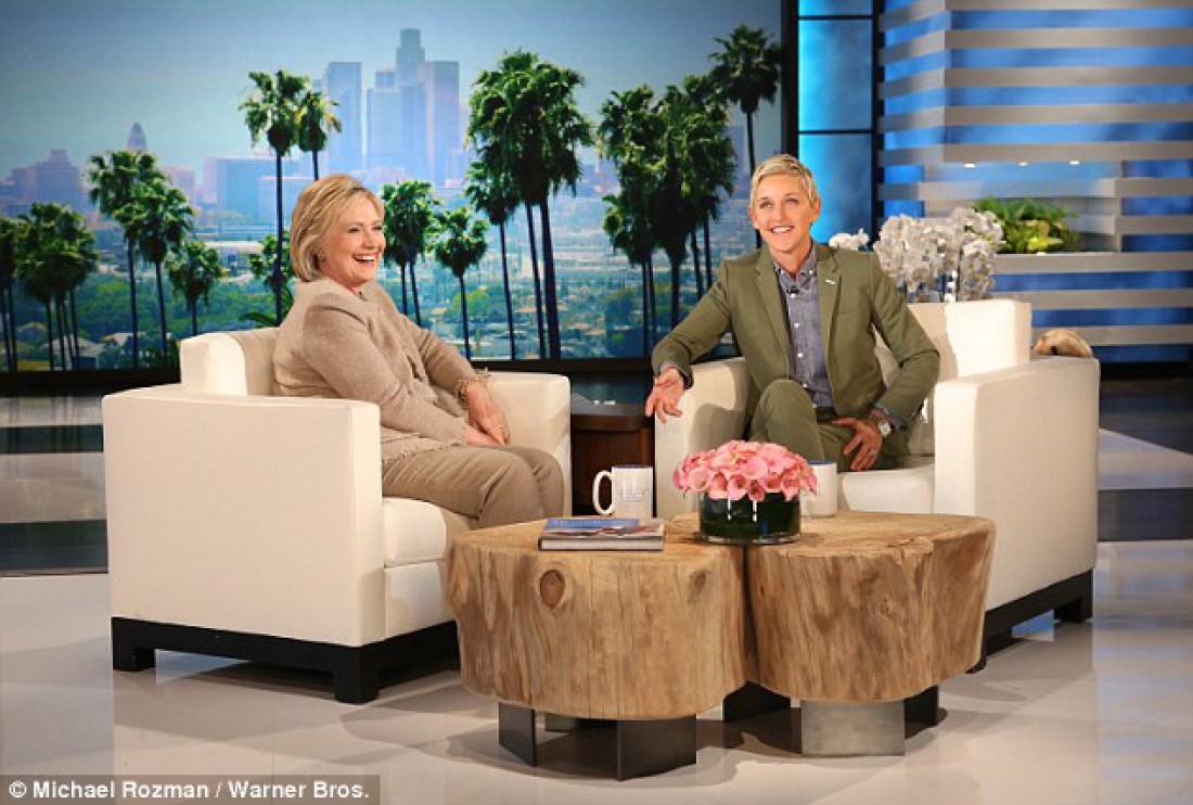 Хиллари Клинтон в студии ток-шоу Ellen DeGeneres show