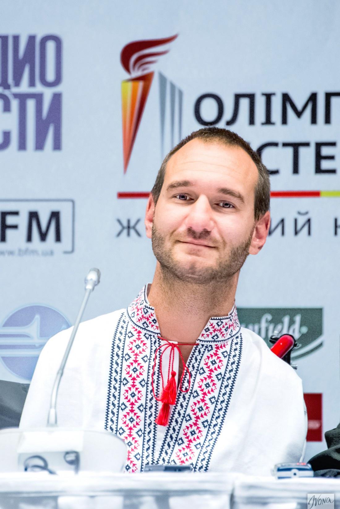 Ник Вуйчич на пресс-конференции в Киеве