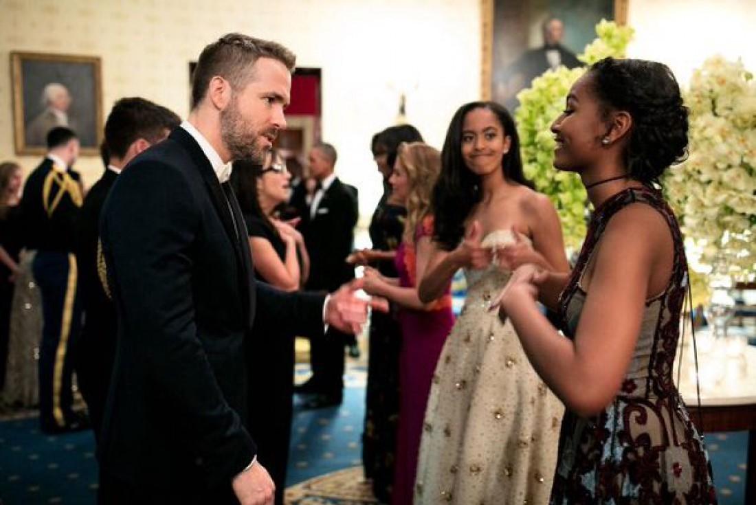Саша Обама с голливудским актером ведет себя как обычный подросток