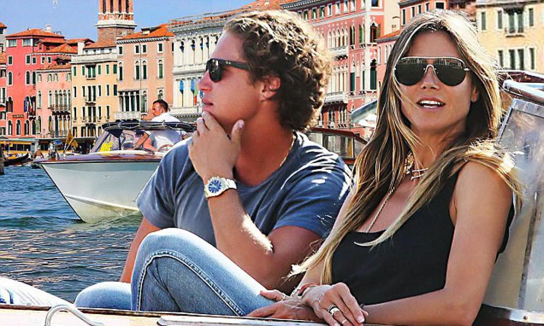 Хайди Клум и Вито Шнабель в Венеции