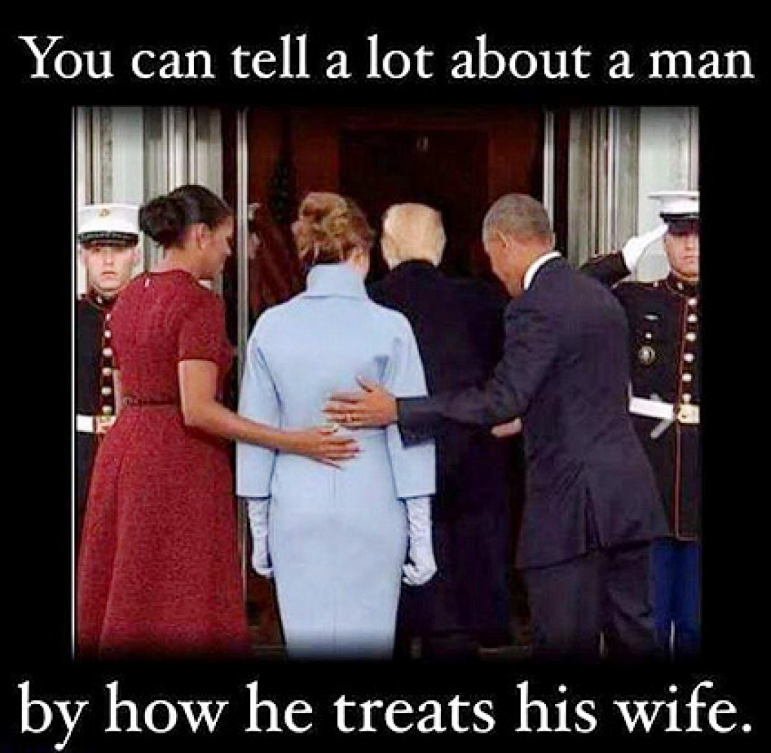 Меланья Трамп, Дональд Трамп, Барак Обама, Мишель Обама