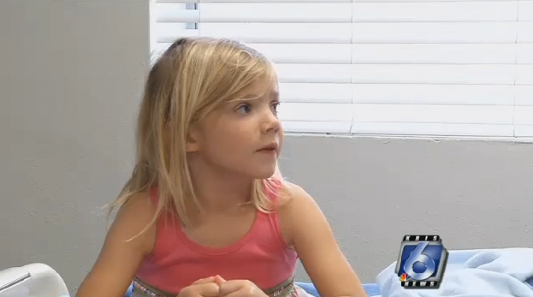 Пятилетняя Элли спасла жизнь своей маме