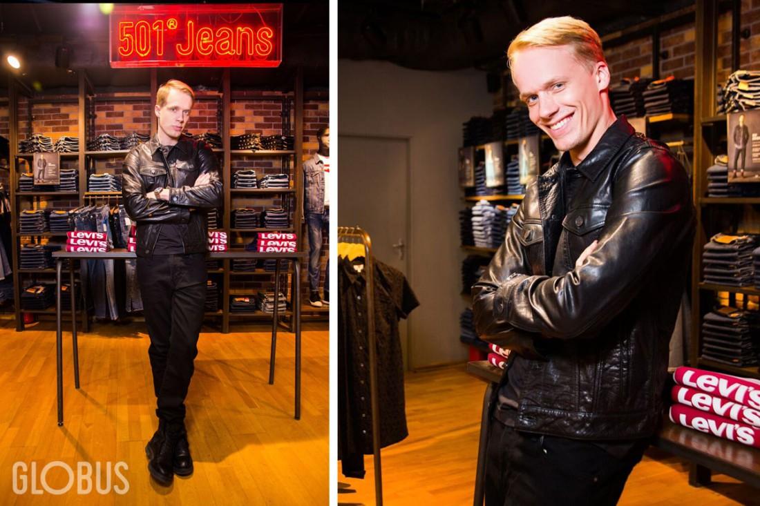 В гардеробе Андрея всегда найдется место кожаной куртке и джинсам