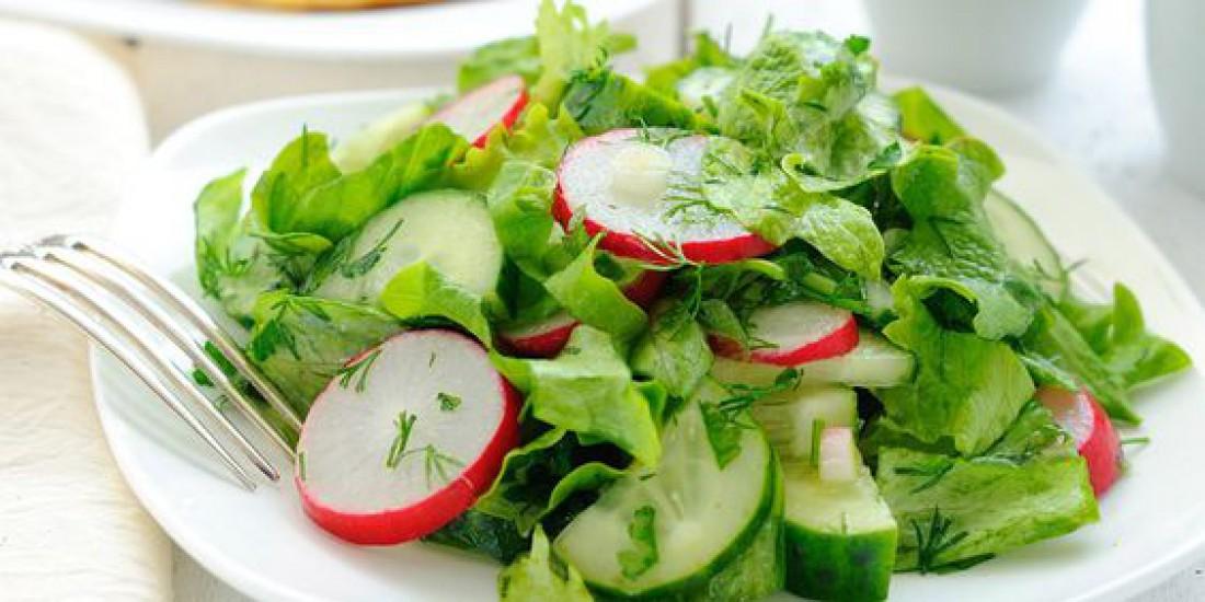 Салаты на Пасху: Салат из редиса с овощами