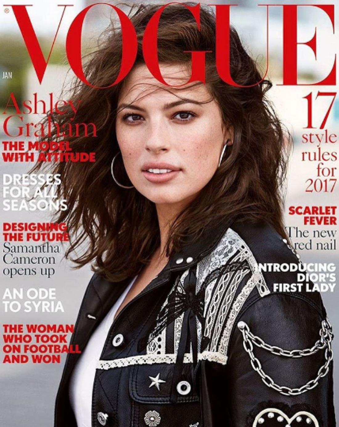 Эшли Грэм на обложке январского Vogue UK