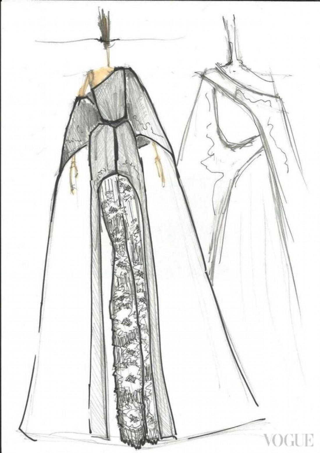 Эскиз наряда для Джамалы от Ивана Фролова
