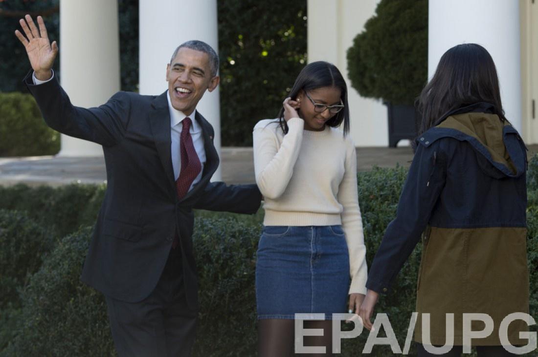 Барак и Саша Обама