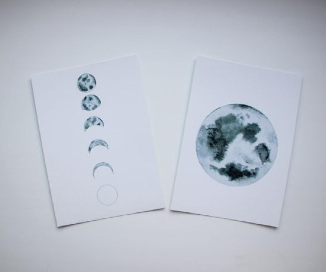 Картинки луны убывающей