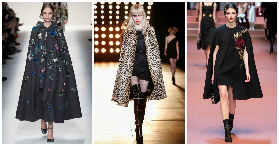 Кейпы на показах Valentino, Gucci и Dolce & Gabbana