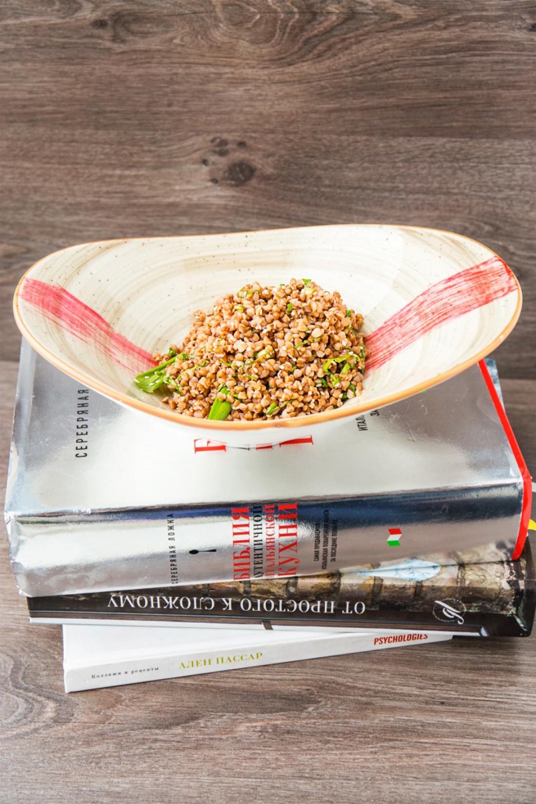 Рецепт постной гречки с черемшой
