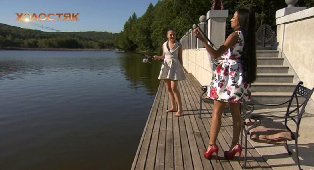 Холостяк 7 сезон 3 выпуск: Оля и Стелла ловят рыбу