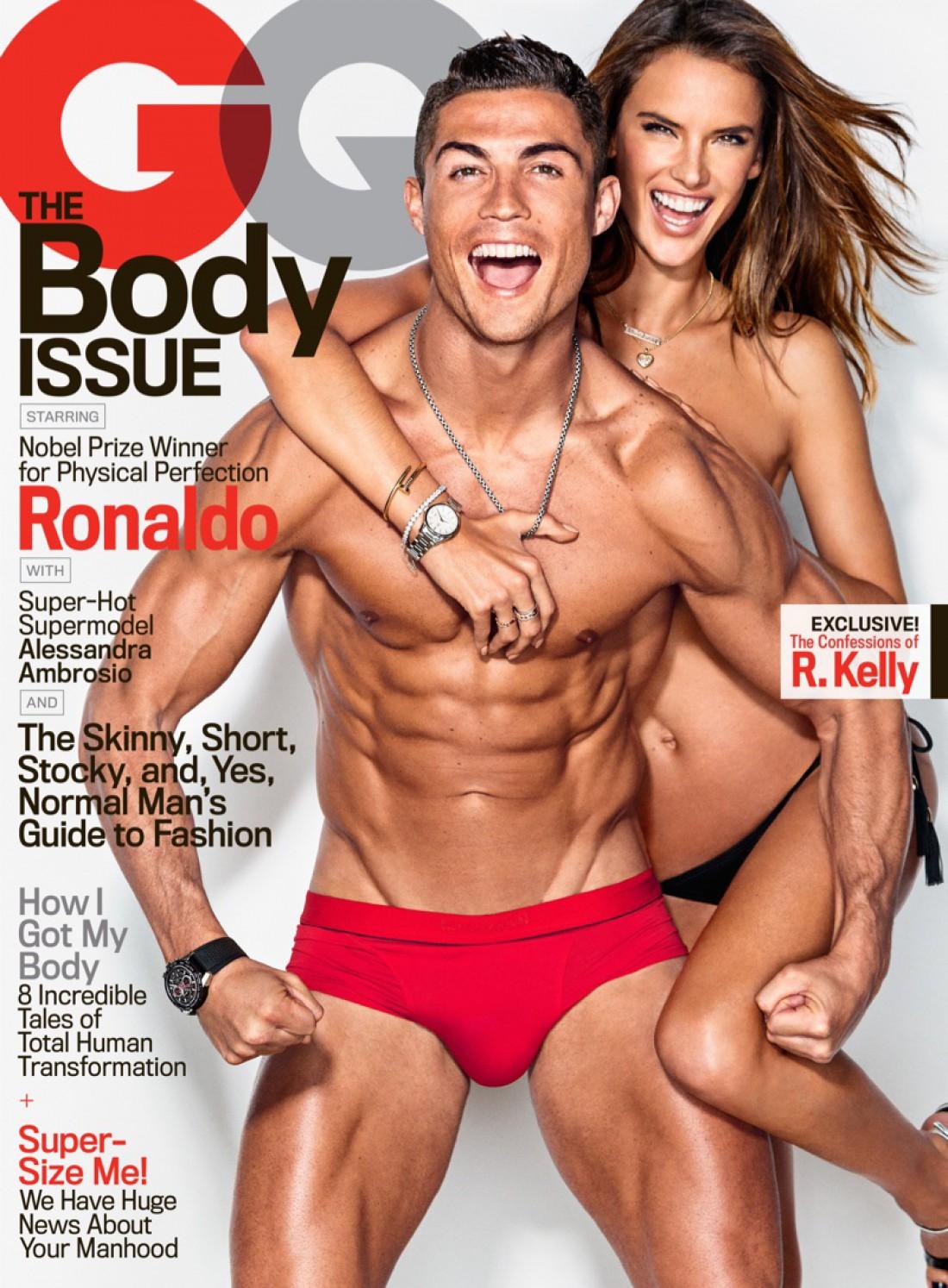 Алессандра Амбросио и Криштиану Роналду снялись для GQ Magazine