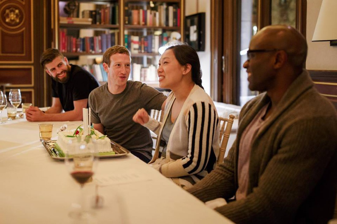 Марк Цукреберг вместе с женой отметили ее день рождения в Испании