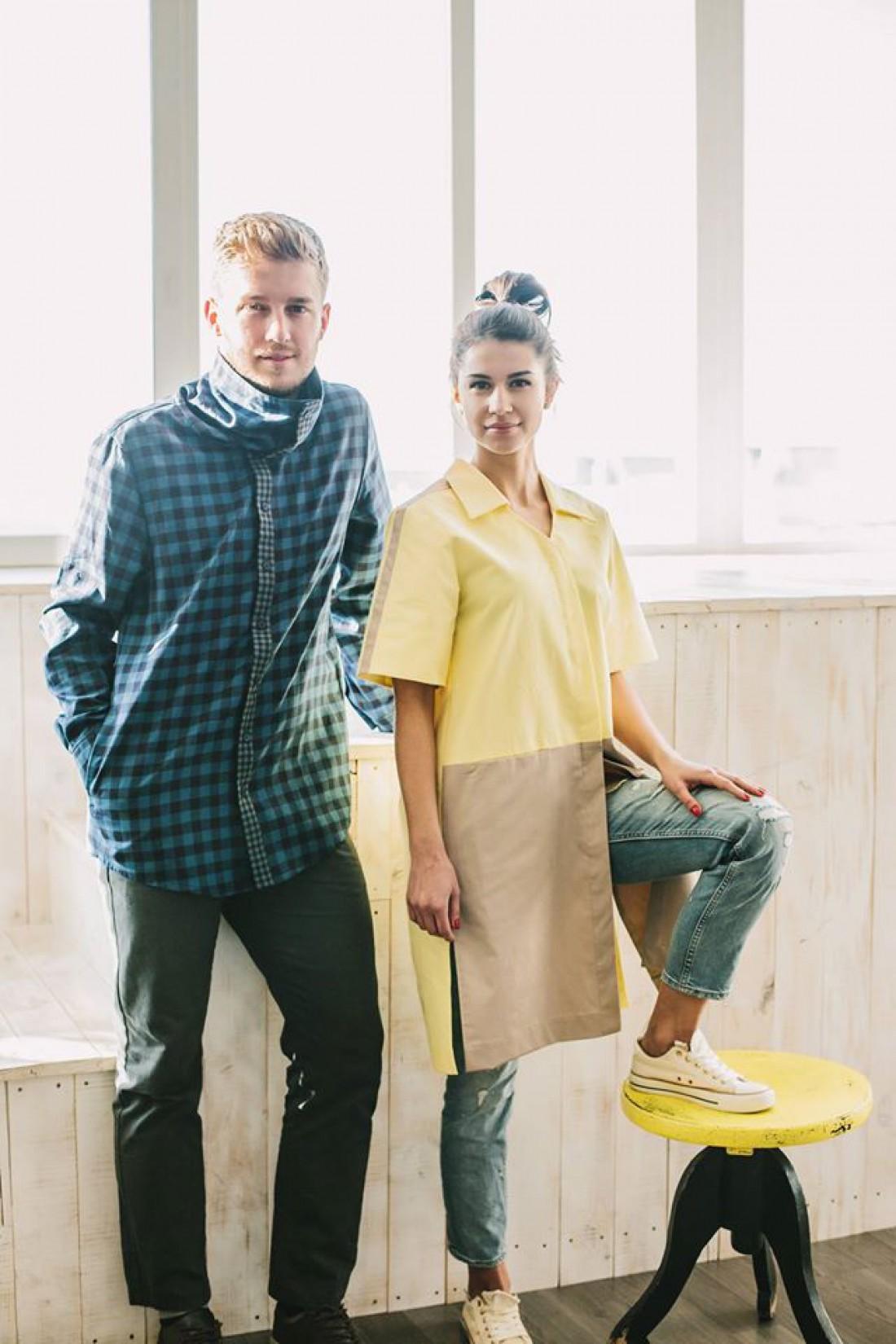 Женская удлиненная рубашка от украинского бренда Inshi