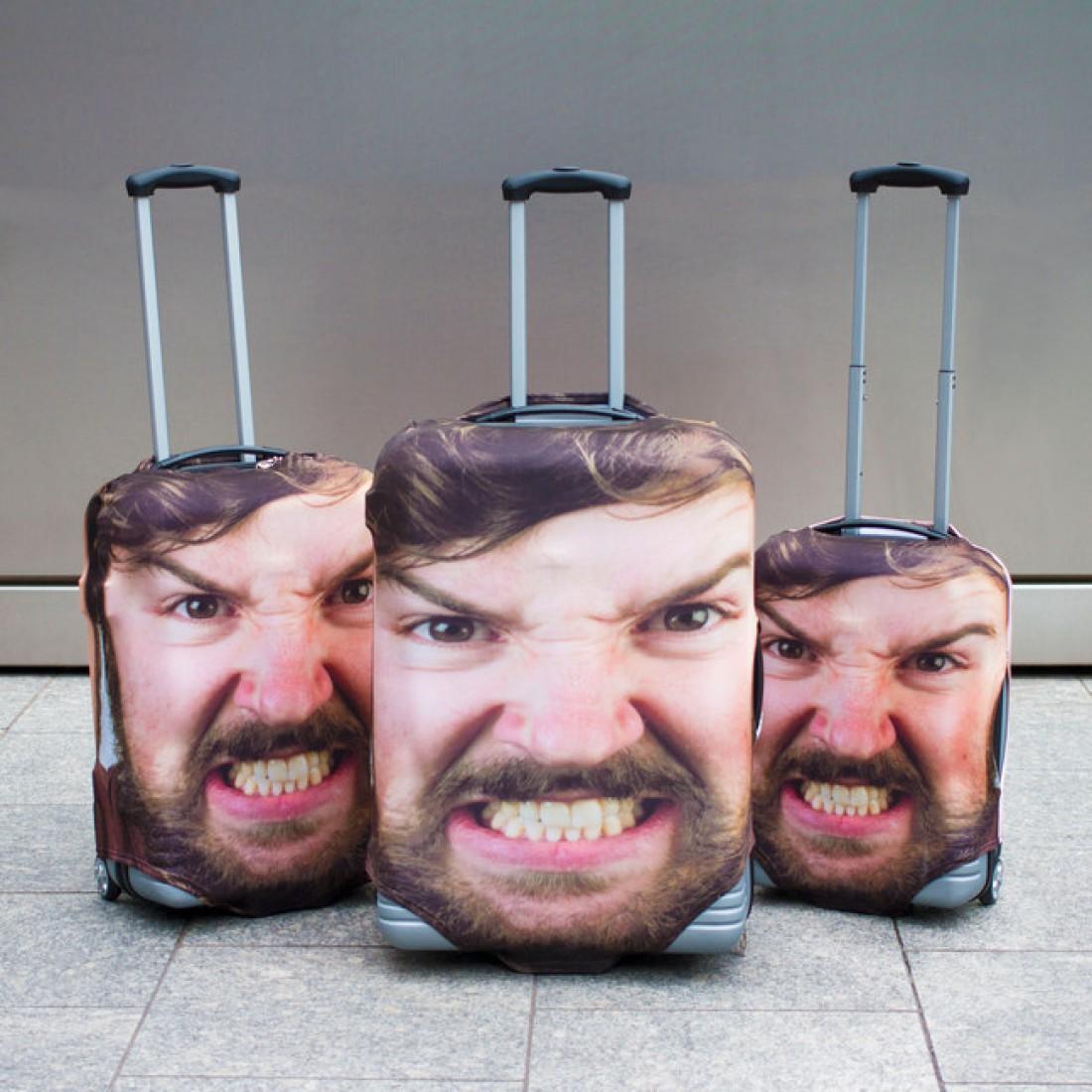 Чехлы для чемоданов с портретом владельца