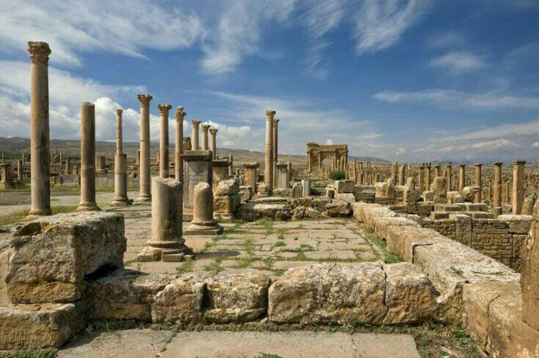 Развалины Тимгада, некогда великого римского города
