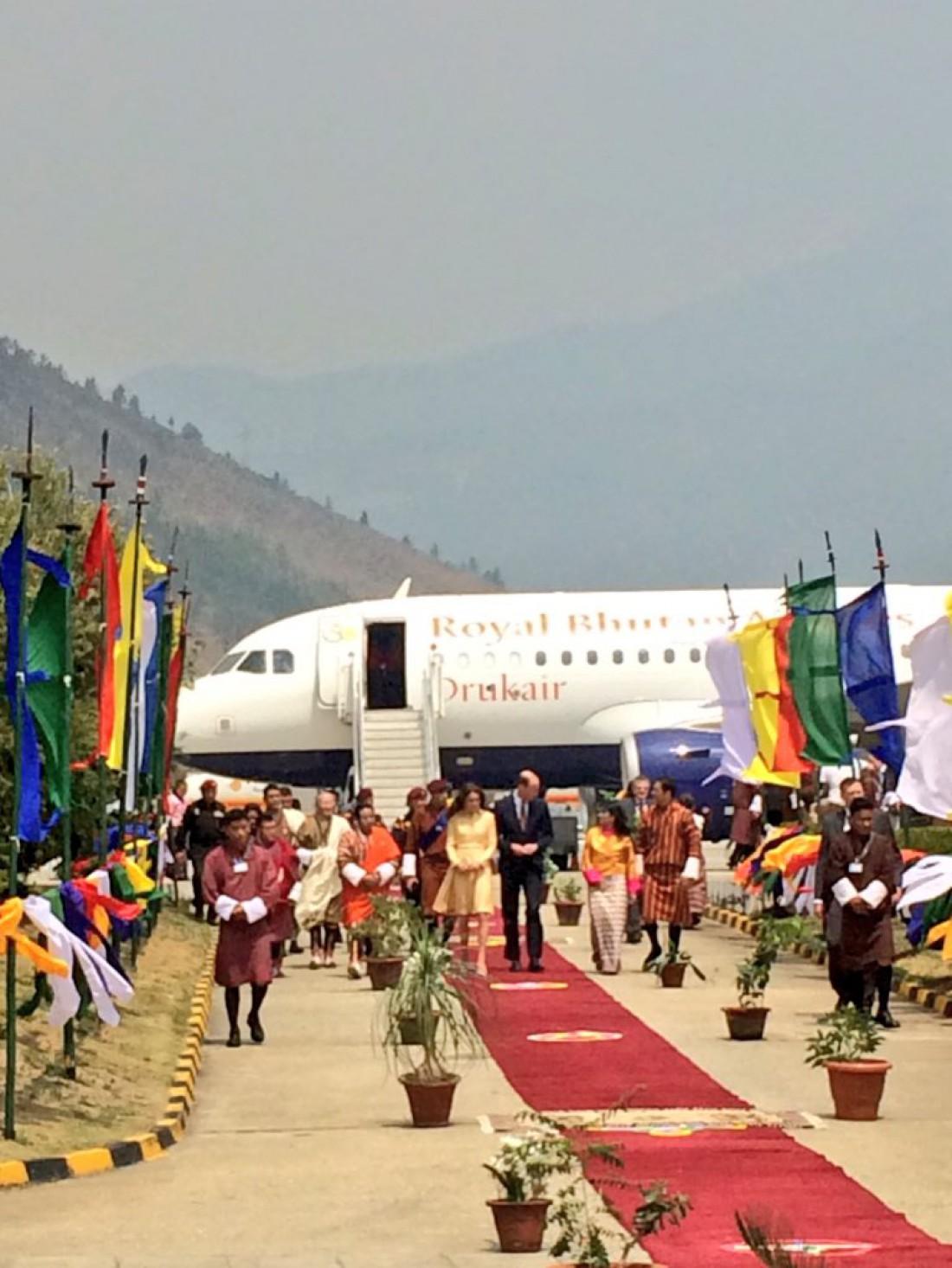 Самолет принца Уильяма и Кейт Миддлтон преземлился в Бутане
