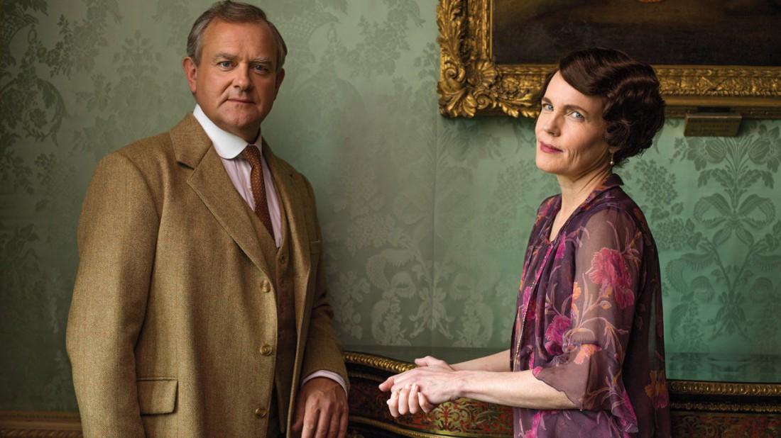 Хью Бонневиль и Элизабет МакГоверн в роли лорда и леди Грэнтэм в сериале Аббатство Даунтон