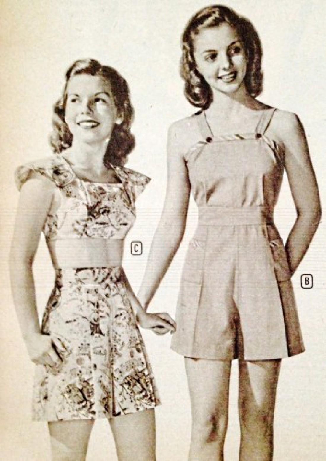 Ромперы в 40-х годах ХХ века