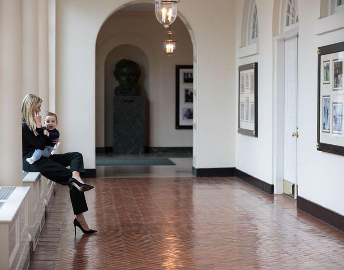 Иванка с сыном в Белом доме