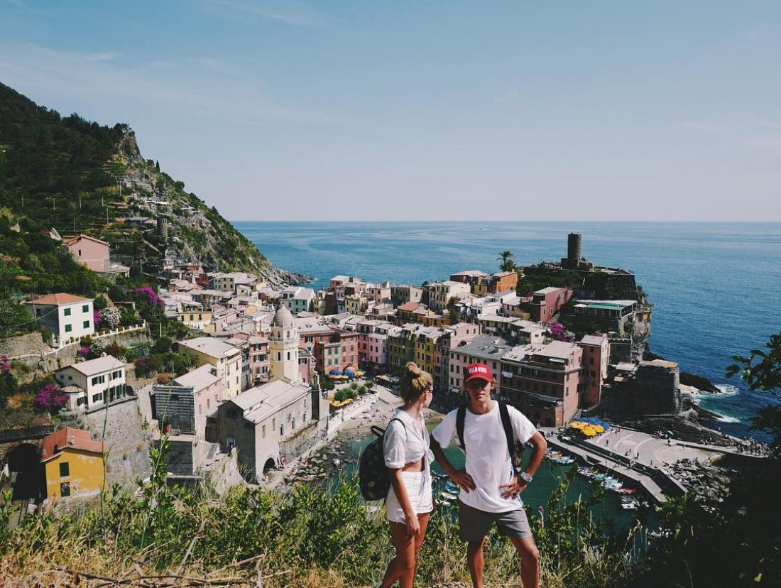 Соня Киперман с парнем в Италии