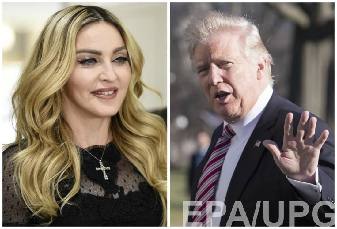 Мадонна и Дональд Трамп