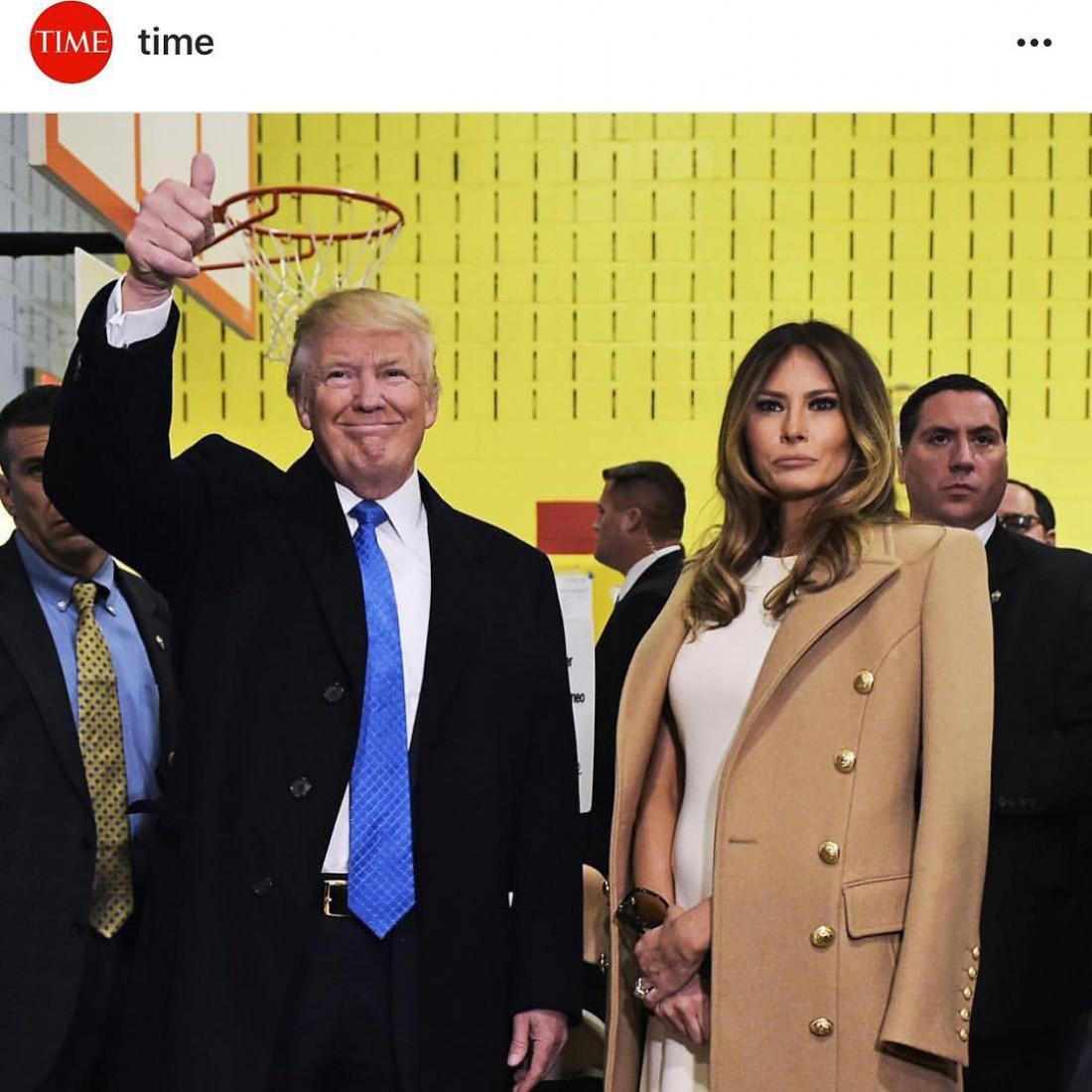 Дональд Трамп и его жена Меланья