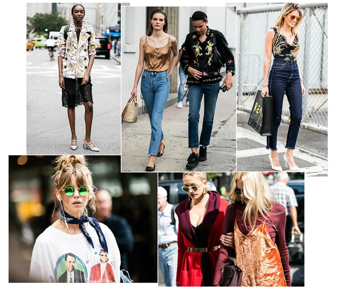 Уличный стиль на Неделе моды в Нью-Йорке
