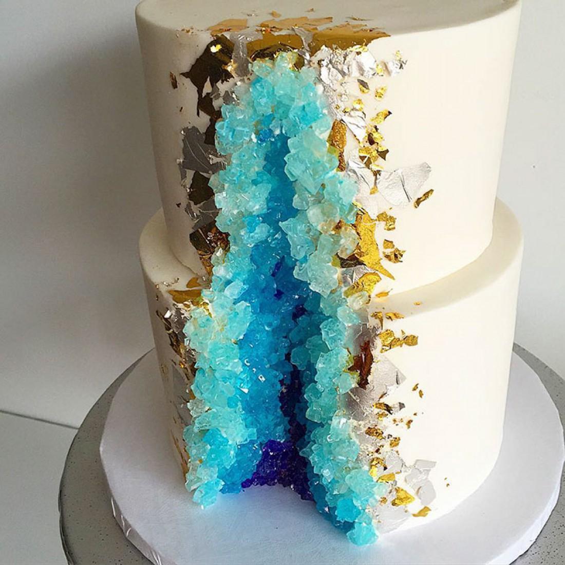 Свадебный гео-торт