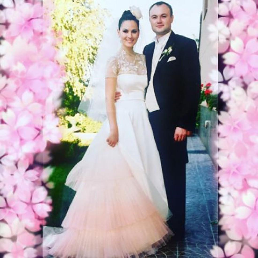 Маша Ефросинина с Мужем Тимуром в день свадьбы