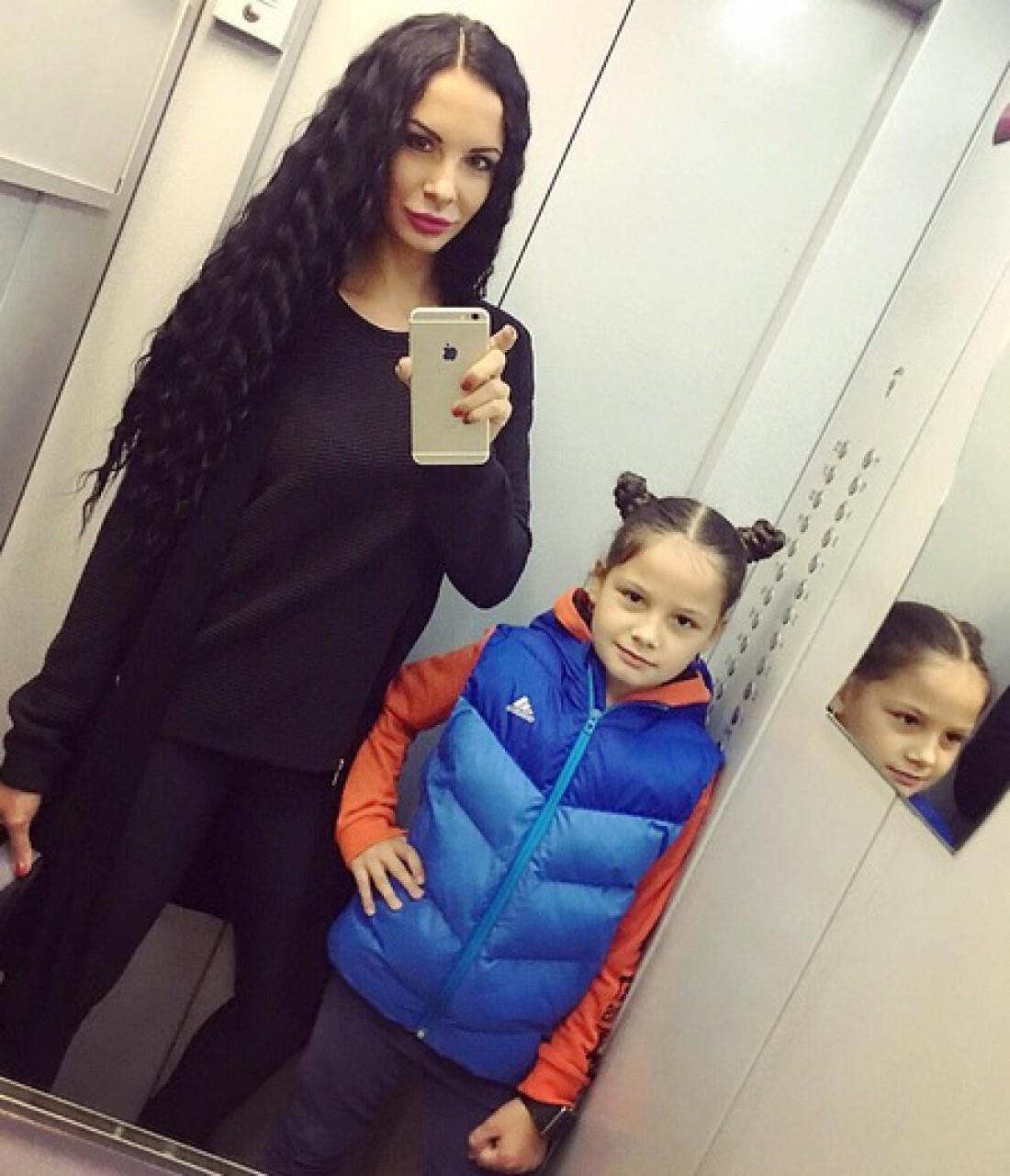 Людмила Милевич с дочкой